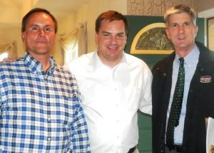 Picture of Senator, Representative and Gary Sikes