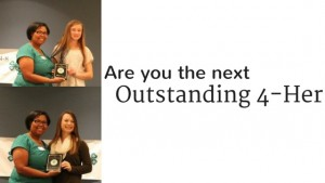 Cover photo for Are You the Next Outstanding 4-Her?