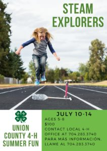 Cover photo for STEAM EXPLORERS - UC 4-H Summer Camp Fun!
