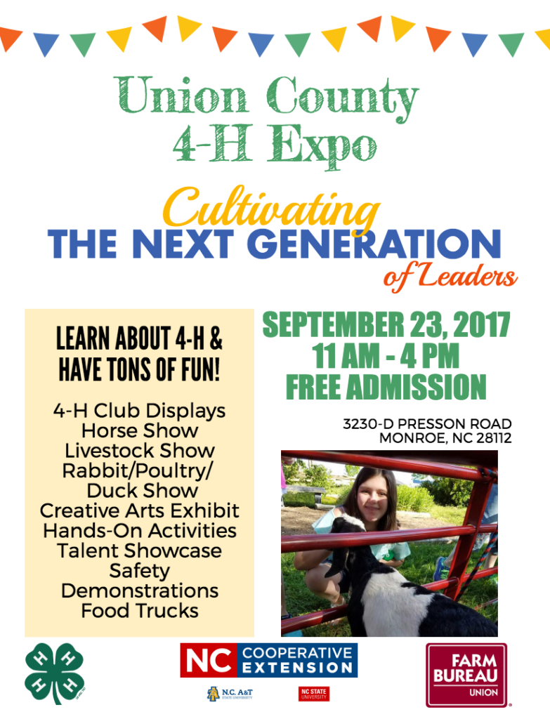 Union County 4-H Expo poster
