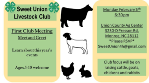 Cover photo for Sweet Union Livestock Club