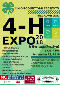 Cover photo for Union County 4-H Host Expo Showcasing Talents and Projects of Youth