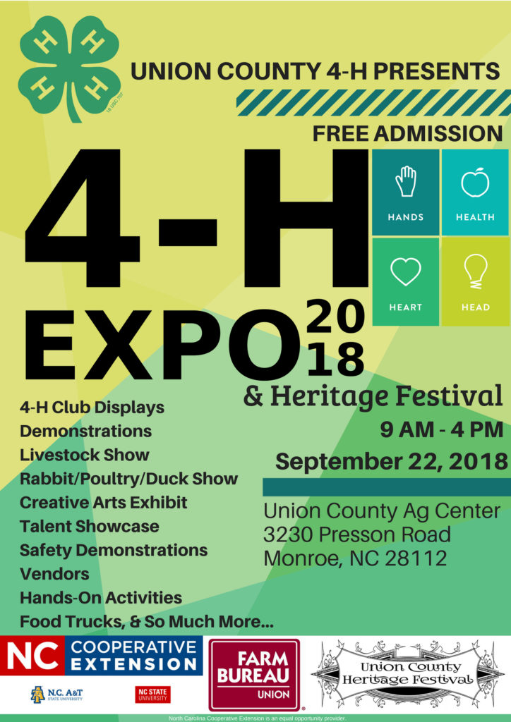 2018 4-H Expo flyer image