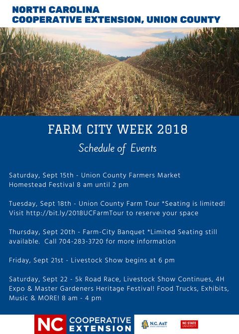 Farm City Week 2018 Schedule of Events