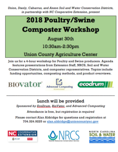 2018 Poultry/Swine Composter Workshop