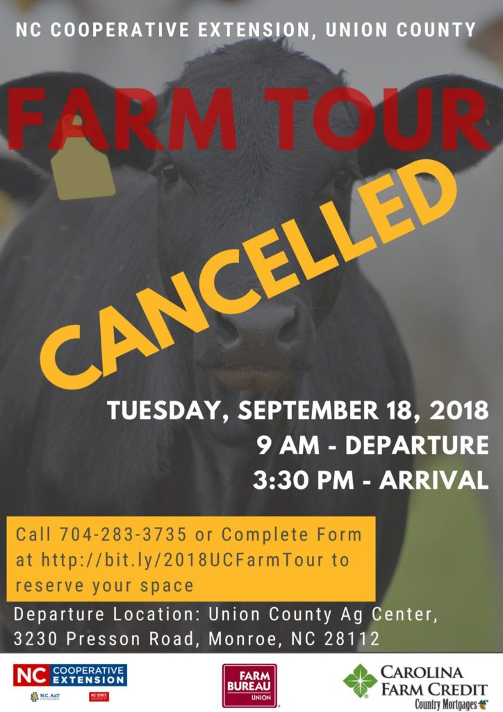Farm Tour flyer, with Event Canceled