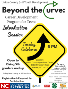 Cover photo for Union County 4-H Offers Career Development Program for High School Students