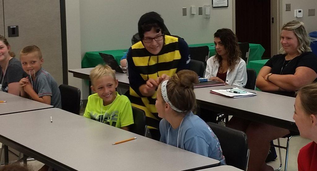 Union County Master Gardener Volunteers teaching 4H summer camp kids