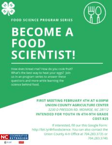 4-H Food Scientist Flyer