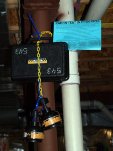 Image of a radon test