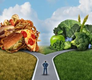 Choosing healthy food options