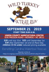 Wild Turkey 5k Trail Run Flyer