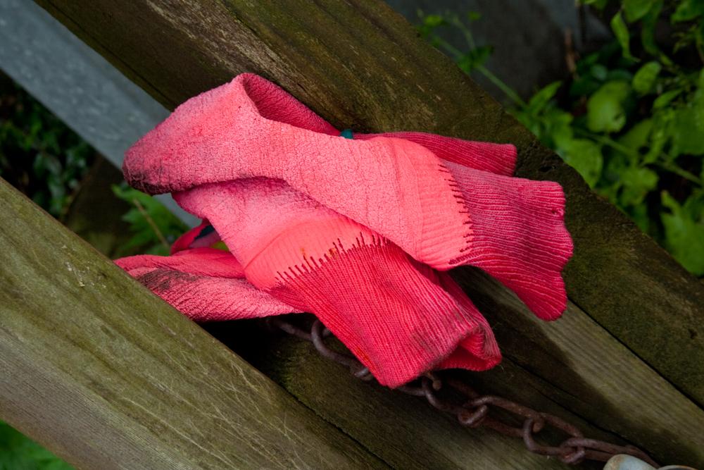 Pink Gardening gloves