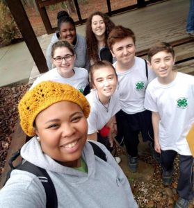 Crystal Starkes Union County 4H agent and 4H student leaders
