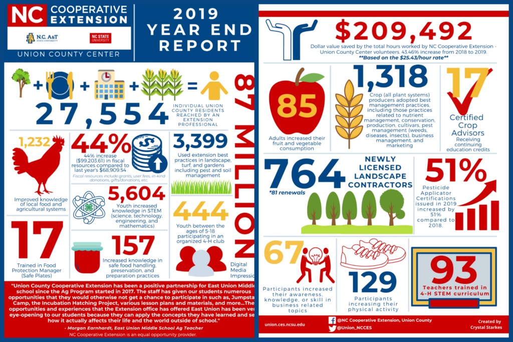 Union County 2019 Year End Report Graphic