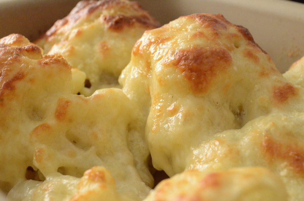 Cauliflower in cheese
