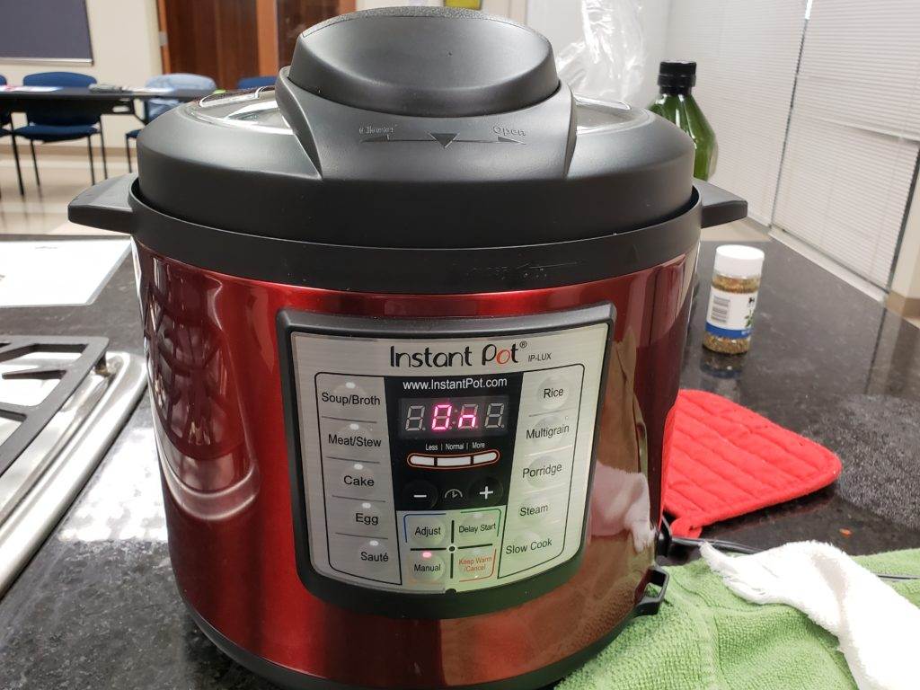 Instant Pot that is turned on