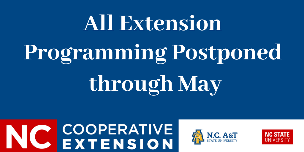 COVID-19 postpone program through May announcement