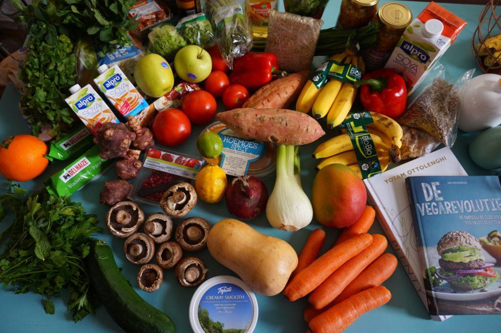 Produce on a table