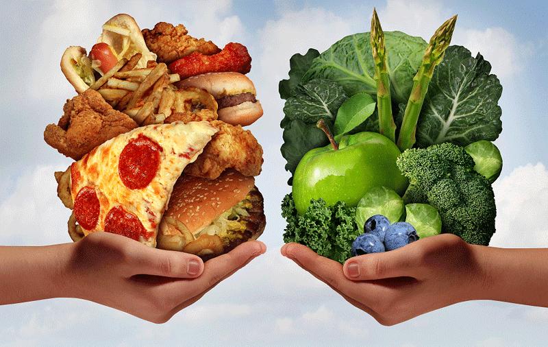 junk food/healthy food