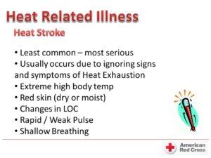 heat related illnesses chart