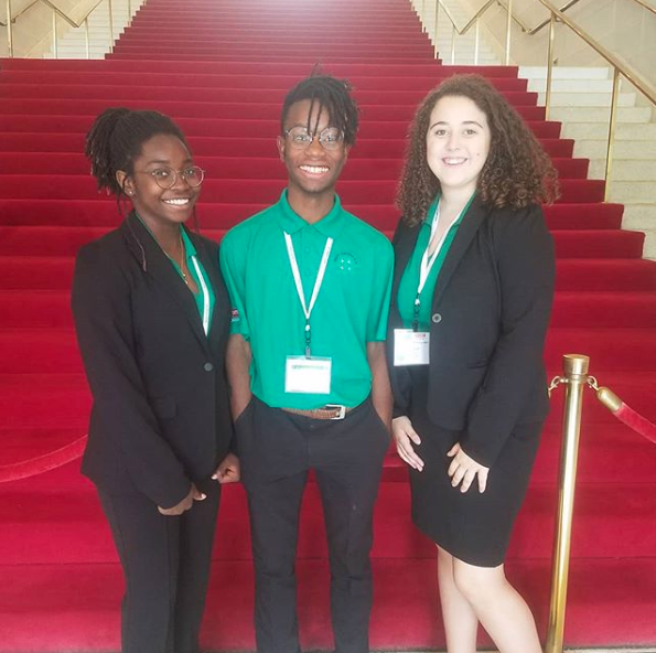 three youth representing 4H at 4H Congress