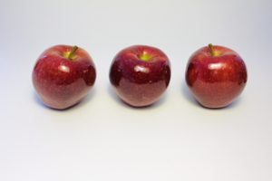 Three Red Apples in a row