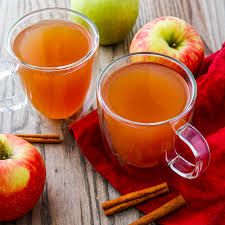apples and two cups of cider