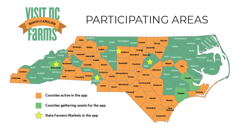 Participating Counties NC Farms APp