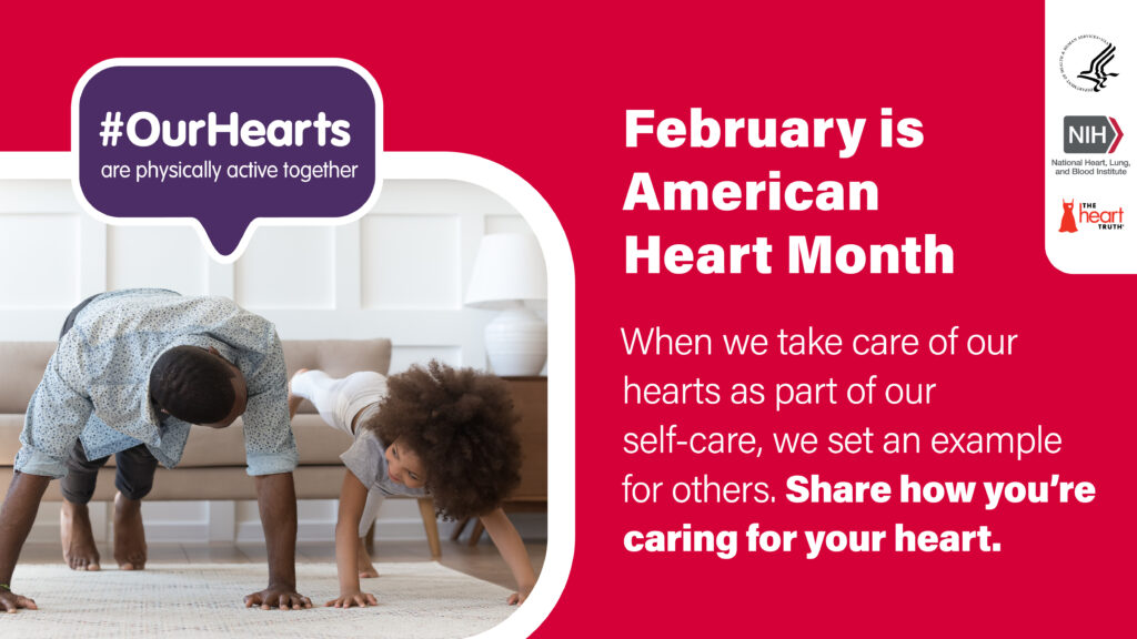Family doing Yoga at Home - American Heart Month