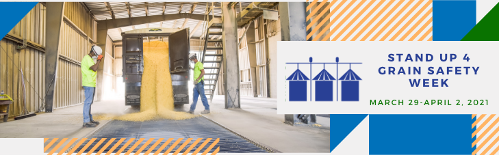 Men Unloading Grain from a Truck