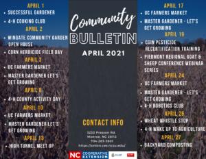 April 2021 - Community Bulletin