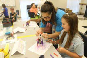 Two Girls working on CIT Program