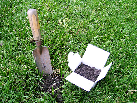 Soil Testing Kit with brown Soil inside of it