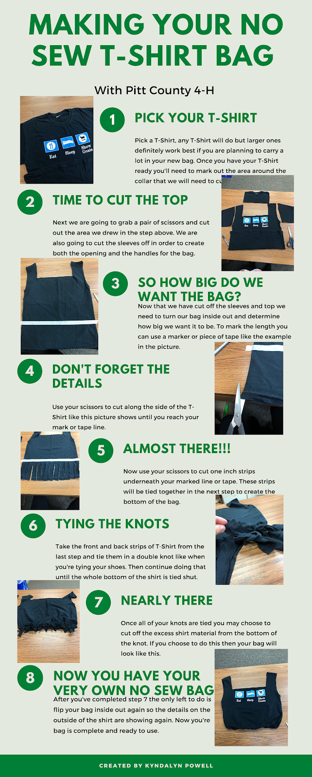 Instructions for Making a no Sew Tote Bag