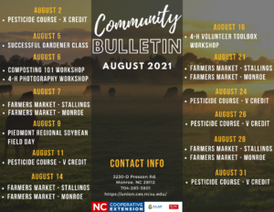 August 2021 - Extension Events