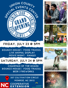 Flyer with Events for Grand Opening