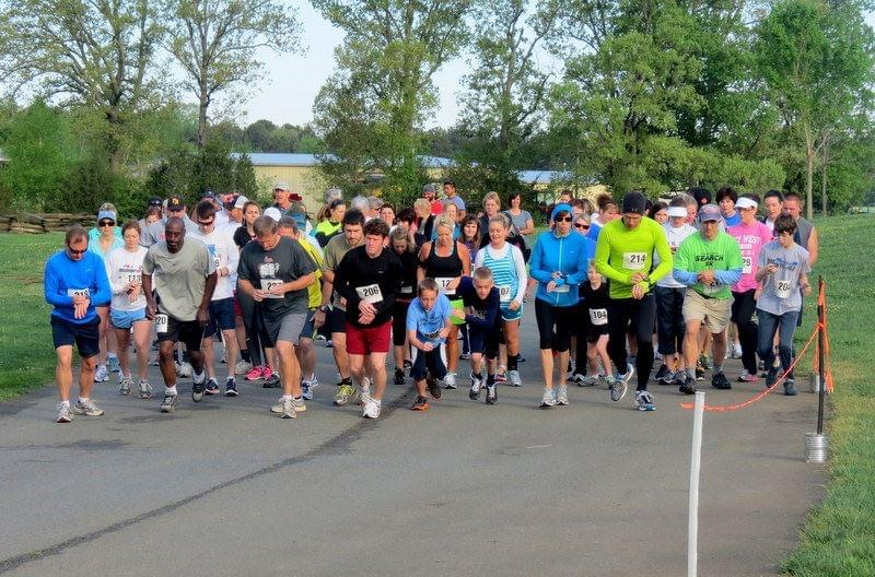 Runners at 5K