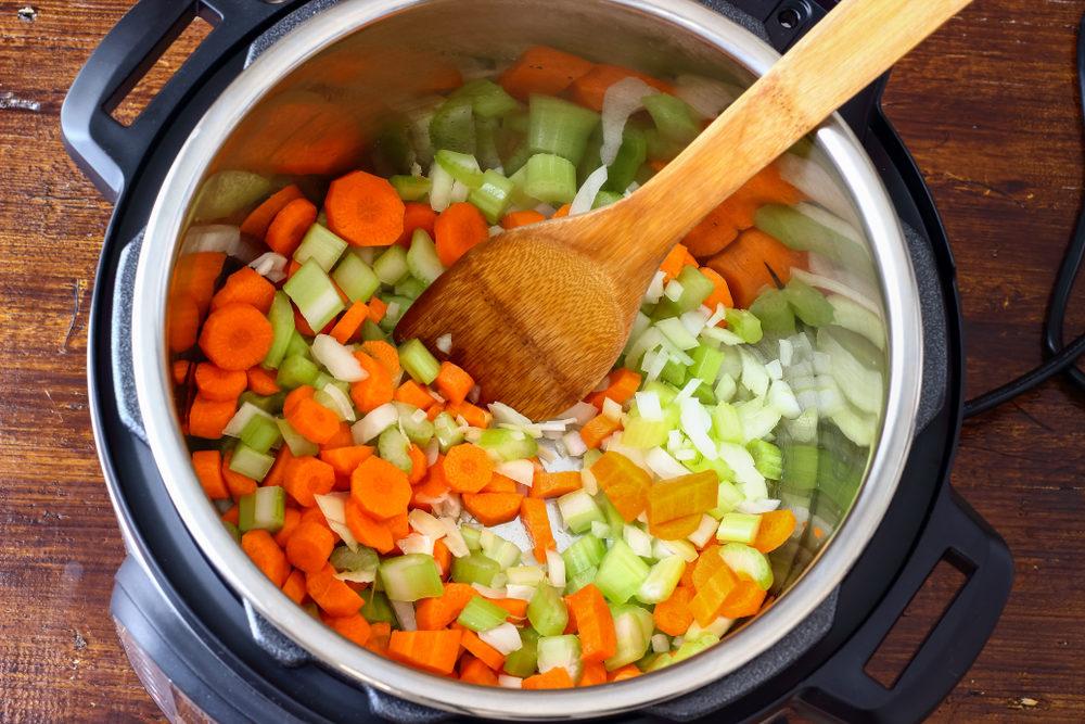 Orange and Green Veggies in a Pot