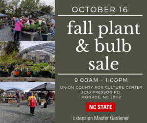 Poster with Plant Sale information